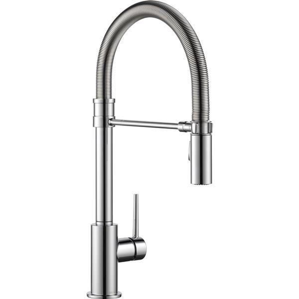 Delta Trinsic Kitchen Faucet - 18.75-in. - 1-Handle - Chrome