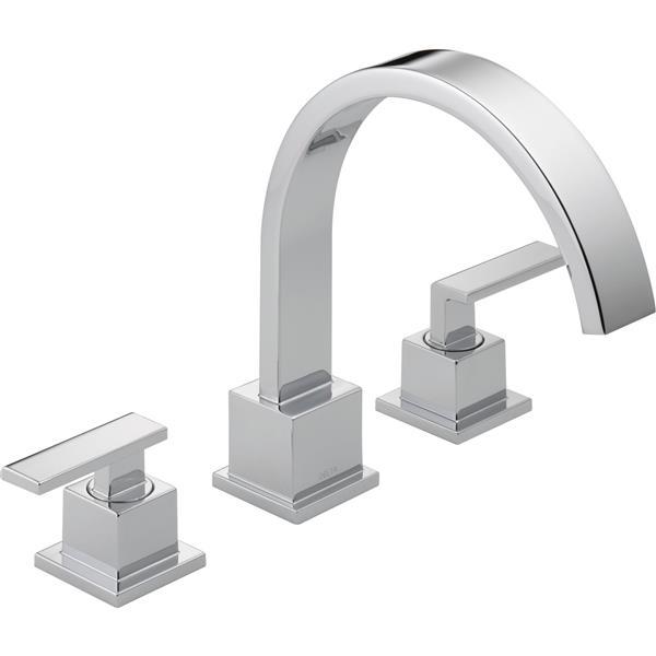 Delta Vero Deck Mount Roman Tub Faucet - 8.75-in. - Chrome
