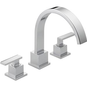 Delta Vero Deck Mount Roman Tub Faucet - 8.75-in. - Chrome