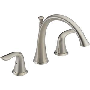 Delta Lahara Deck Mount Roman Tub Faucet - 8.5-in. - Stainless Steel