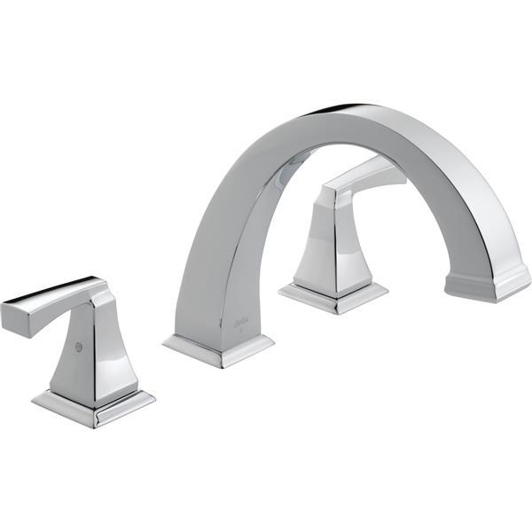 Delta Dryden Deck Mount Roman Tub Faucet - 9-in. - Chrome