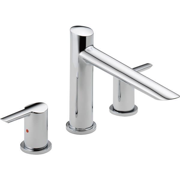 Delta Compel Deck Mount Roman Tub Faucet - 8.75-in. - Chrome
