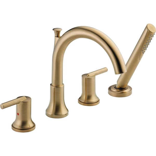 Delta Trinsic Deck Mount Roman Tub Faucet - 10-in. - Champagne Bronze