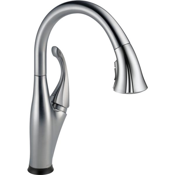 Delta Addison Kitchen Faucet - 15.38-in. - 1-Handle - Arctic Stainless