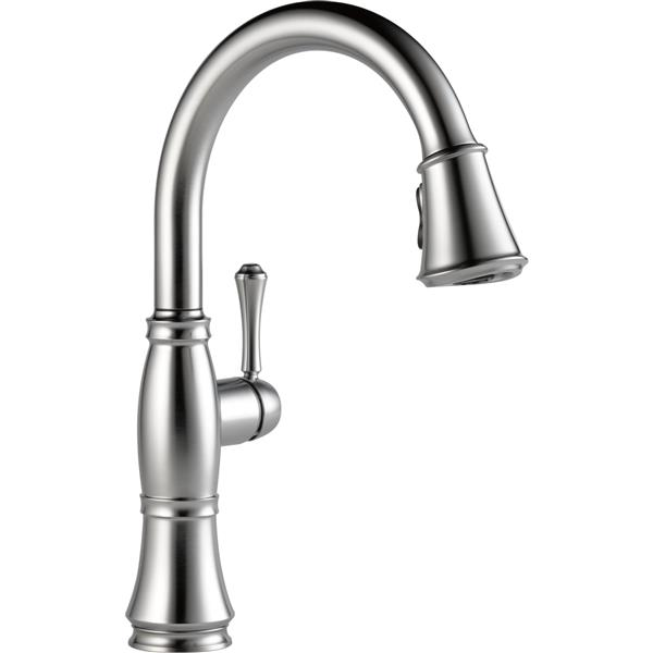 Delta Kitchen Faucets.Delta Cassidy Kitchen Faucet 15 5 In 1 Handle Arctic