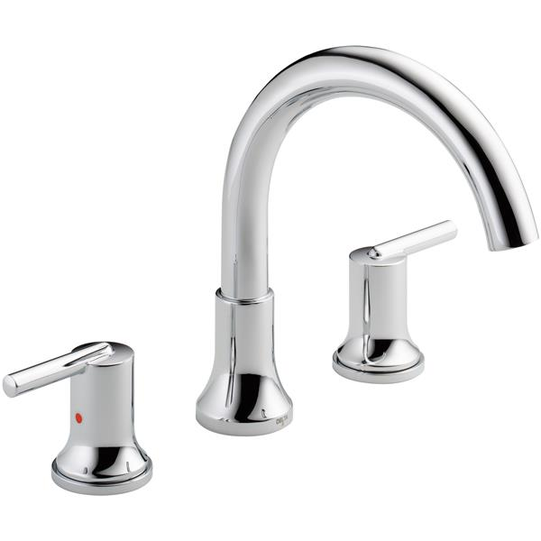 Delta Trinsic Deck Mount Roman Tub Faucet - 10-in. - Chrome