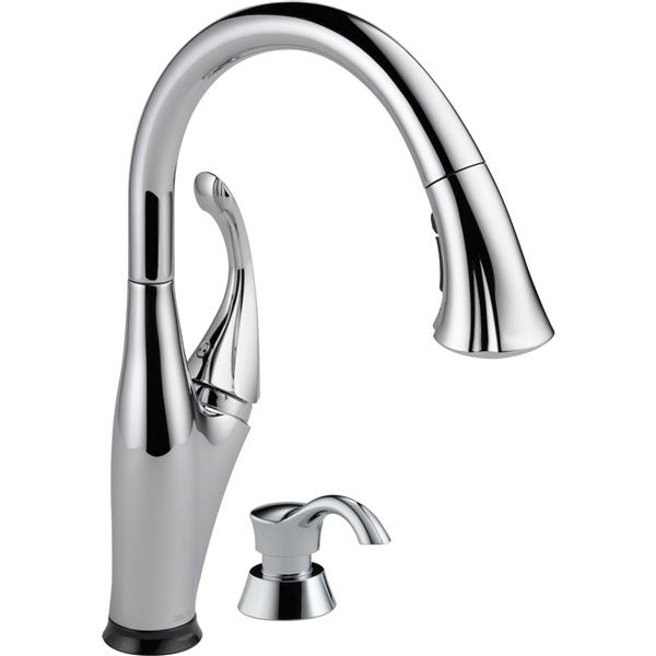 Delta Addison Kitchen Faucet - 15.38-in. - 1.5 GPM - 1-Handle - Chrome