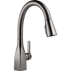 Delta Mateo Kitchen Faucet - 15.5-in. - 1-Handle - Black Stainless
