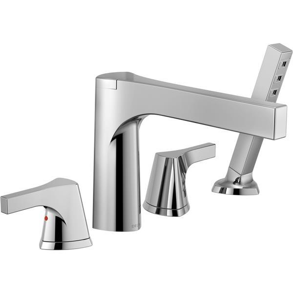 Delta Zura Deck Mount Roman Tub Faucet - 9.81-in. - Chrome