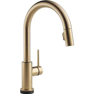 Delta Trinsic Touch2O(R) Kitchen Faucet - 15.69-in. - Champagne Bronze