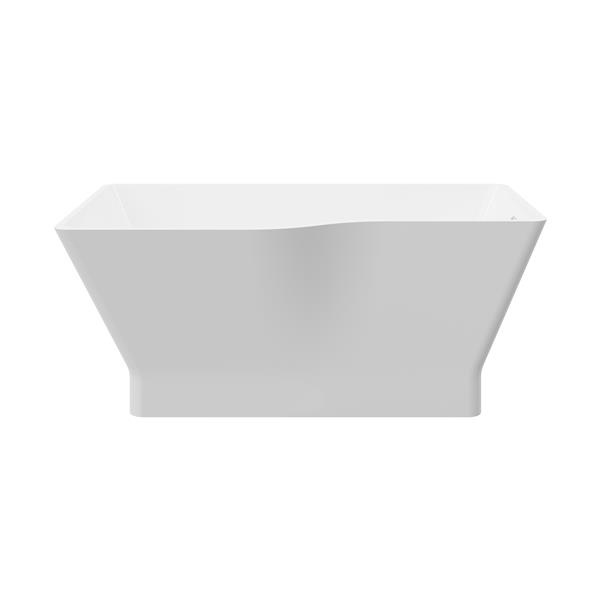 A&E Bath & Shower Riga Asymetric Freestanding Tub - 59-in - White