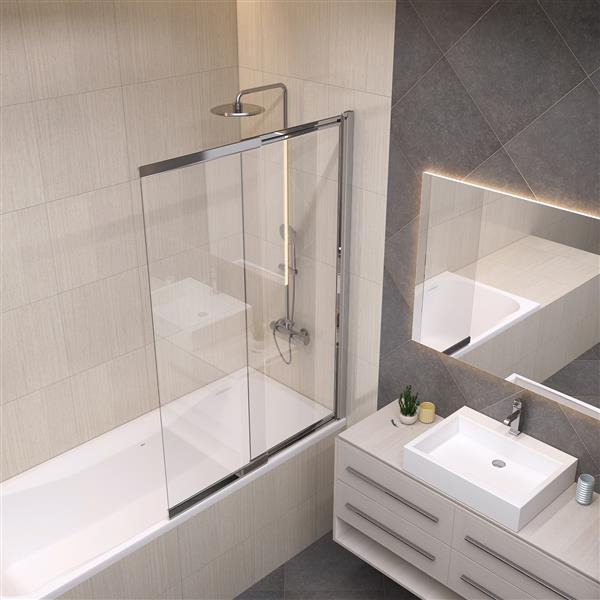 A&E Bath & Shower Amara Bath Screen 40-in