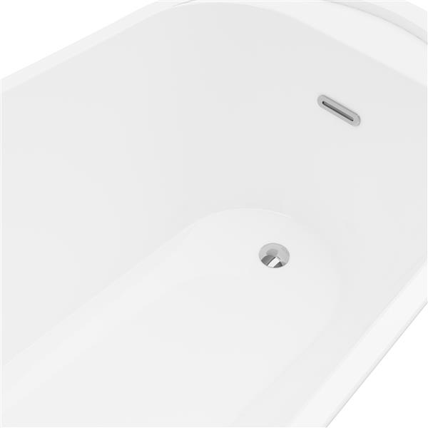 Bain autoportant Paris de A&E Bath & Shower, 59 po, blanc
