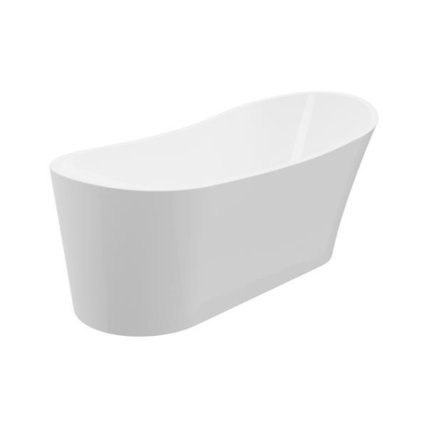 A&E Bath & Shower Paris  Freestanding Bathtub - 59-in - White