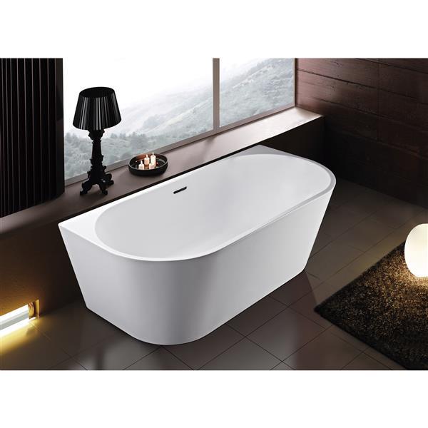 Bain autoportant Rialto de A&E Bath & Shower, 59 po, blanc