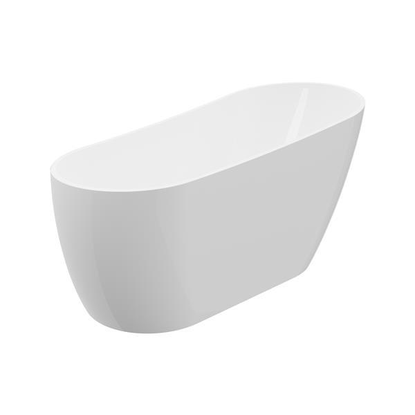 A&E Bath & Shower Riviera Freestanding Bathtub - 67-in - White