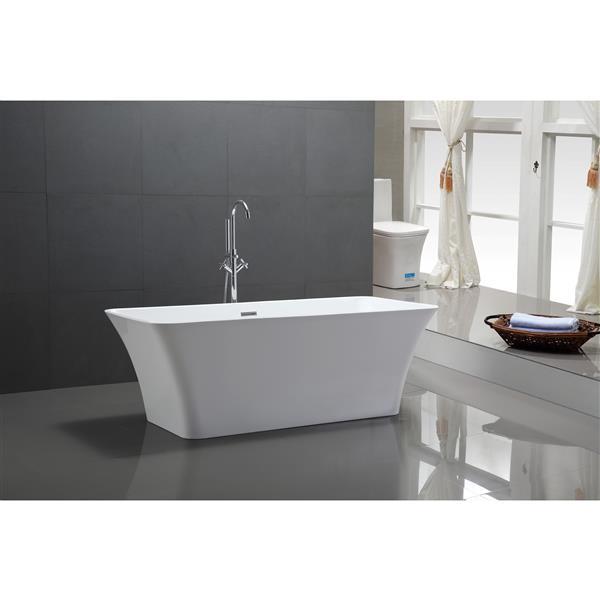 A&E Bath & Shower Fermont Freestanding Bathtub - 67-in - White