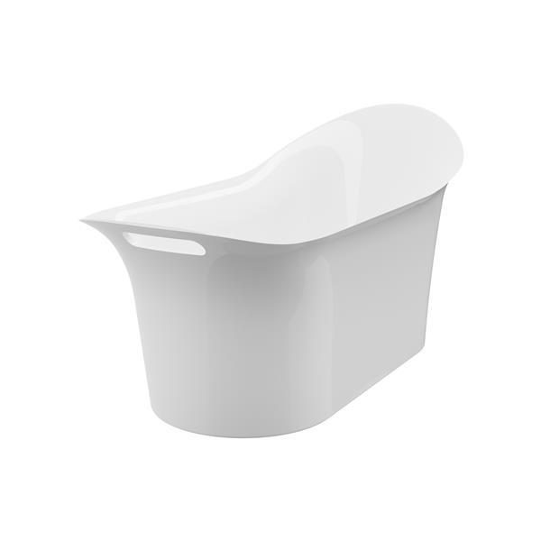 A&E Bath & Shower London Freestanding Bathtub - 64-in - White