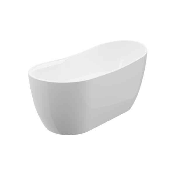 A&E Bath & Shower Miami Freestanding Bathtub - 59-in - White