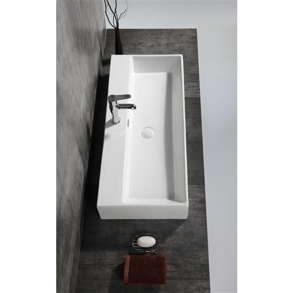 A&E Bath & Shower Dasha Over the Counter Vessel Ceramic Basin Sink