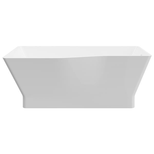 A&E Bath & Shower Riga-67 Asymetric Freestanding Tub - 67-in - White