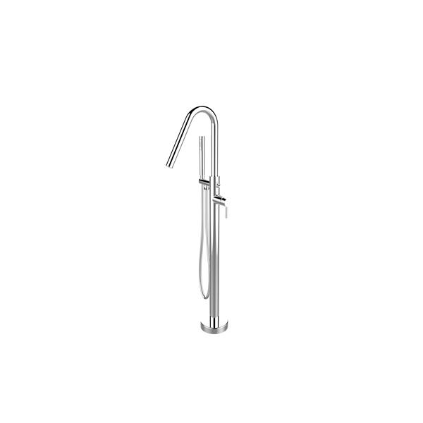 A&E Bath & Shower Florence Freestanding Faucet - Angle Spout - Chrome