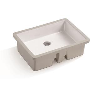 Lavabo sous comptoir Isla de A&E Bath & Shower, blanc lustré