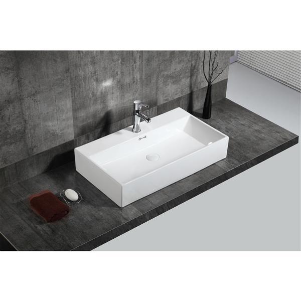 A&E Bath & Shower Adelmo Over the Counter Vessel Ceramic Basin Sink