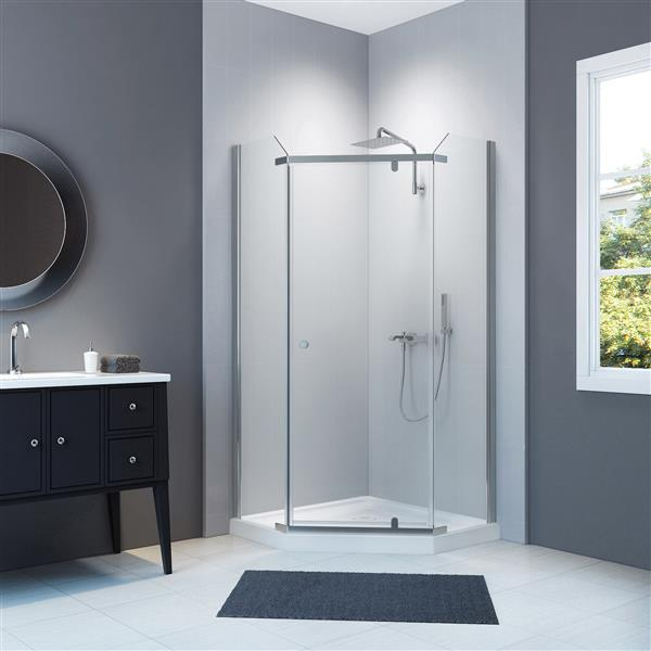 A&E Bath & Shower Nevada-NW Neo Angle Shower Enclosure Kit Without Walls