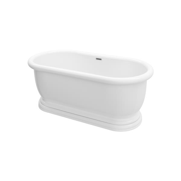 A&E Bath & Shower Austin Freestanding Bathtub - 69-in - White