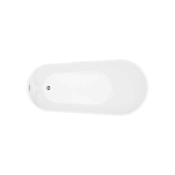 A&E Bath & Shower Riviera Freestanding Bathtub - White