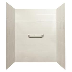 A&E Bath & Shower Alexa Acrylic Alcove Shower Wall - 60-in x 36-in - White