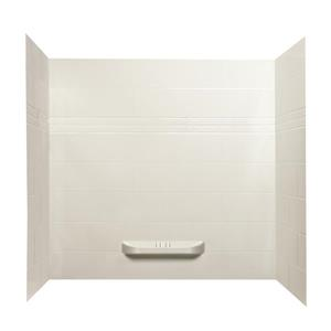 A&E Bath & Shower Kayla Acrylic Bathtub Shower Wall - 60-in x 36-in - White