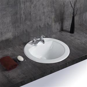 Lavabo encastré Ingrid de A&E Bath & Shower, blanc lustré