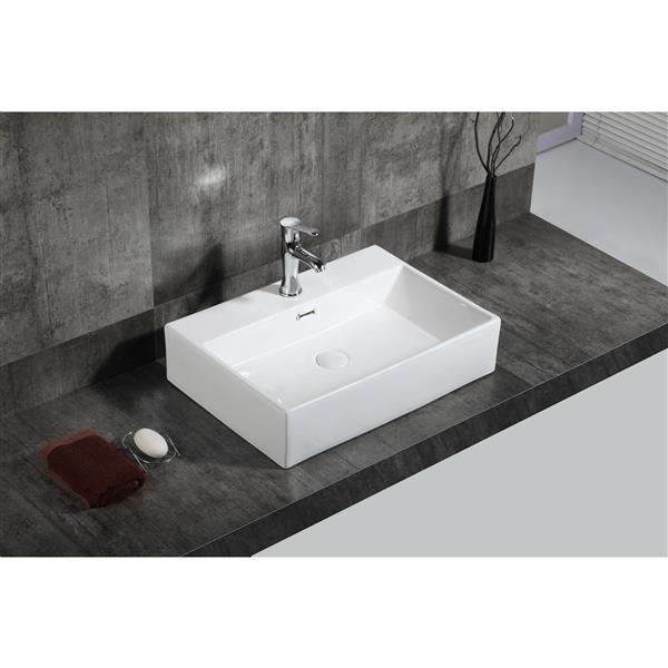A&E Bath & Shower Xander Over the Counter Vessel Ceramic Basin Sink