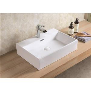 Vasque Xander de A&E Bath & Shower, céramique, blanc