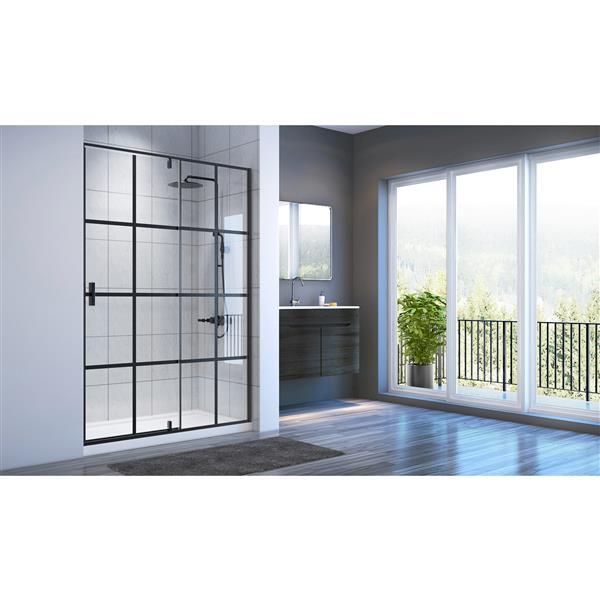 A&E Bath & Shower Taylor Bath Screen Shower Enclosure 60-in - Black Matte