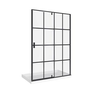 A&E Bath & Shower Taylor Bath Screen Shower Enclosure 60-in - Black Matte