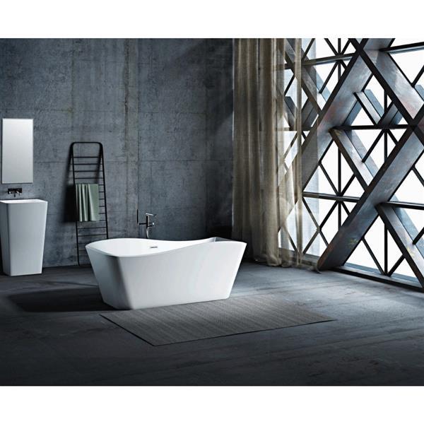 A&E Bath & Shower Omaha Freestanding Bathtub - 67-in - White