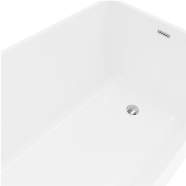 A&E Bath & Shower Malibu  Freestanding Bathtub - 67-in - White