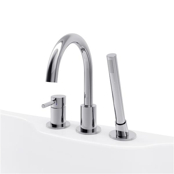 Robinet Oxford de A&E Bath & Shower, montage en surface, chrome poli