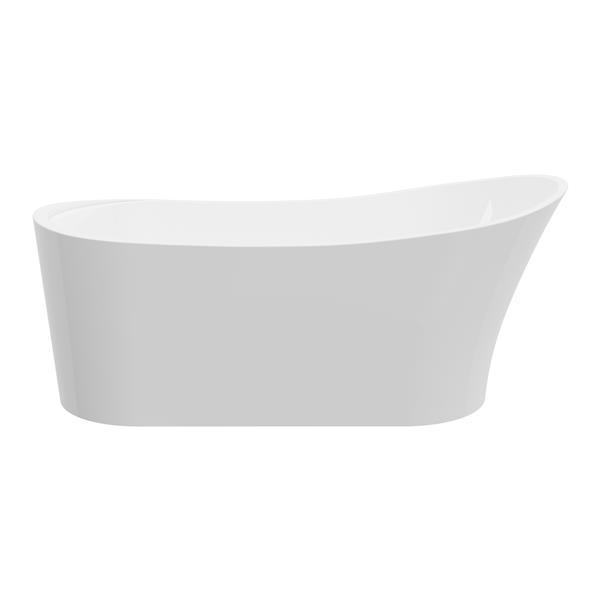 Bain autoportant Paris de A&E Bath & Shower, 67 po, blanc