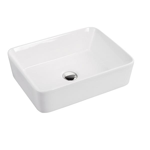 A&E Bath & Shower Mia Over the Counter Vessel Ceramic Basin Sink