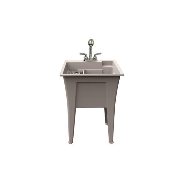 Ensemble de cuve à lavage Dalary avec robinet , 24 po