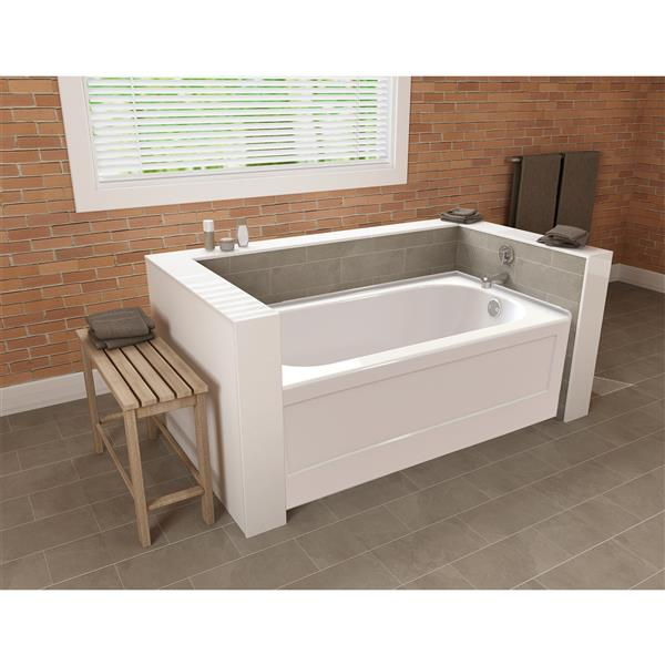 A&E Bath & Shower Downey Tub with skirt - 60-in - White