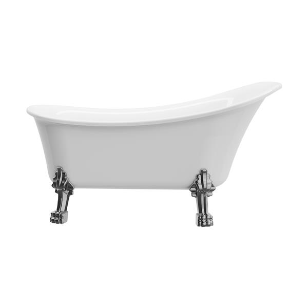 A&E Bath & Shower Dorya SKR Clawfoot tub - 59-in - White
