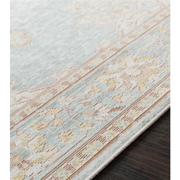 Surya Antioch Updated Traditional Area Rug - 5-ft 3-in x 7-ft 3-in - Rectangular - Seafoam