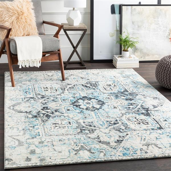 Surya Apricity Updated Traditional Area Rug - 5-ft 3-in x 7-ft 6-in - Rectangular - Blue