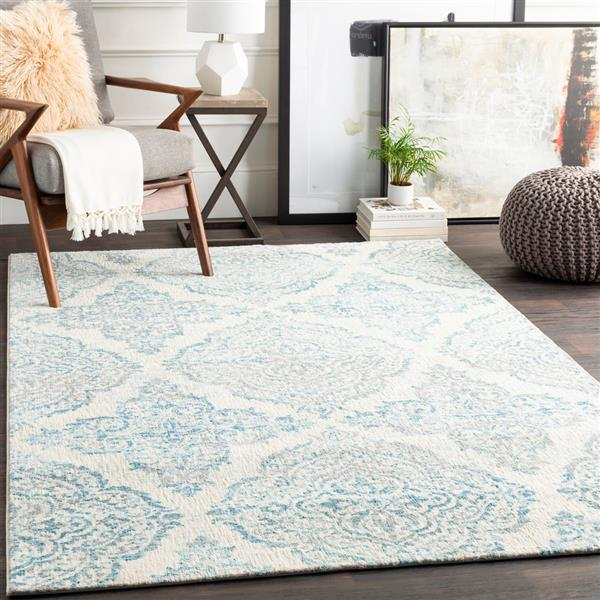 Surya Apricity Transitional Area Rug - 5-ft 3-in x 7-ft 6-in- Rectangular - Sky Blue
