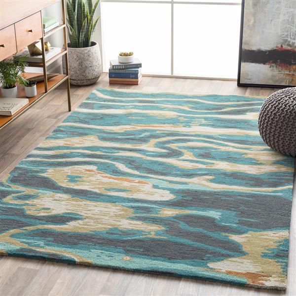Surya Artist Studio Modern Area Rug - 8-ft  x 11-ft - Rectangular - Emerald